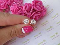 Серебряные серьги арт.0047 Камень Цирконий
