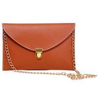 Клатч конверт сумочка Vega light brown