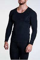 Термокофта мужская Jiber 160 черная, мужское термобелье