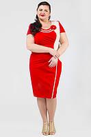ТМ Ghazel Платье Оникс лето красное 10378/8 Ghazel