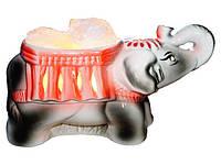 Артемовск Соляной светильник в керамическом основании Слон 4 кг