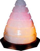 Артемовск Соляной светильник Конус 4-5 кг цветная лампа