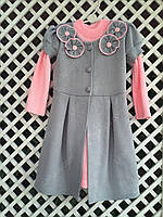 "Платье с кардиганом "" Цветок"" 3, размеры 104 - 128 см"