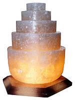 Артемовск Соляной светильник Пагода круглая 3-4 кг обычная лампа