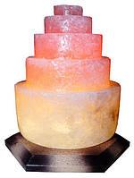 Артемовск Соляной светильник Пагода круглая 3-4 кг цветная лампа