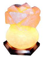 Артемовск Соляной светильник Роза 3-4 кг цветная лампа