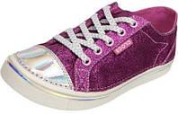 Кеды подростковые блестящие текстильные на резинке - Crocs Girls Deco Glitz Sneaker