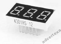 Цифровой индикатор 3 разряда  по 7 сегментов DIP12