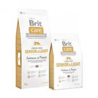 Корм для собак стареющих и склонных к ожирению Brit Care Grain Free Senior & Light 12 кг.