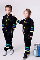 """Детский костюм """"KENZO"""" двухнить мальчик + девочка, лампасы на рукавах и брюках"""