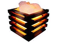 Артемовск Соляной светильник Корзина 4 кг цветная лампа