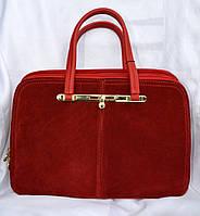 Сумка женская замшевая красная модная