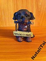 Сувенир собака с табличкой Welcom. Италия.