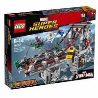 LEGO  DC Comics™  ЧЕЛОВЕК-ПАУК: РЕШАЮЩАЯ БИТВА ВОИНОВ ПАУТИНЫ НА МОСТУ
