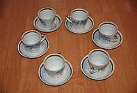 Набор кофейных фарфоровых чашечек