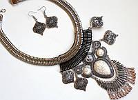 Комплект украшений Колье и серьги Indi серебро , набор бижутерии