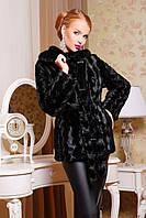 Женская шуба из эко меха Лилия черная, магазин шуб