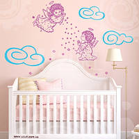 Наклейка Детская на стену Ангельский сон