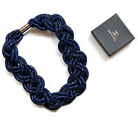 Колье женское Swarovski Dimond синее, бижутерия недорого