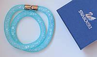 Браслет женский Swarovski Duo голубой, цена браслет