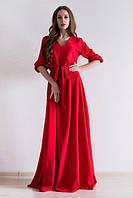 Платье женское в пол Лео красное , платья интернет магазин