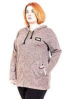 Кофта женская большого размера На Змейке (2цв), трикотажная женская кофта большого размера, дропшиппинг