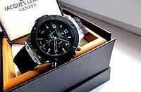 Кварцевые мужские часы Hublot черное серебро , магазин наручных часов