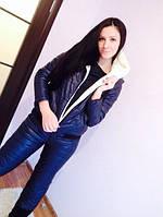 Зимний спортивный костюм  женский Монклер синий , женские костюмы