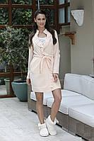 Комплект женский для сна из ночной сорочки и халата HAYS