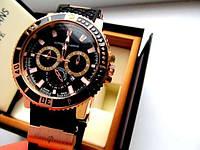Мужские кварцевые часы Ulysse Nardin черное золото, интернет - магазин часов