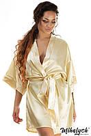 Женский халат для сна из стрейча и атласа