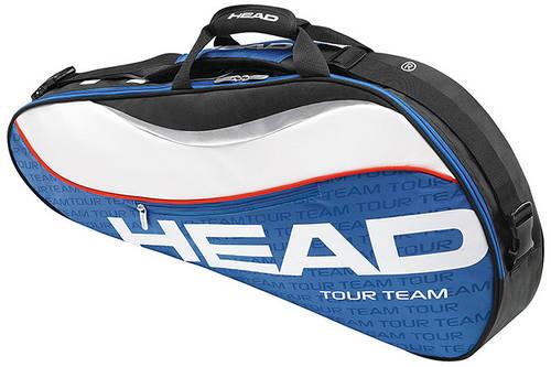Вместительная сумка-чехол для большого тенниса на три ракетки 283344 Tour Team Pro  BLWH HEAD