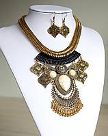 Комплект украшений Колье и серьги Indi золото , набор бижутерии