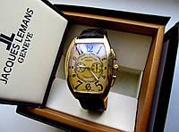 Мужские кварцевые часы Franck Muller коричневое золото