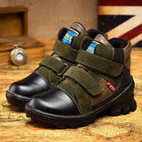 Качественные утепленные ботиночки для мальчика