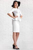 Костюм женский Джессика белый юбка и кофта , женская одежда