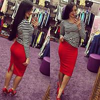 Юбка женская карандаш Джессика красная, женская одежда