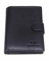 Кошелек бумажник мужской Calvin Klein 1202 черный из натуральной кожи классический