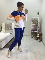 Спортивный костюм женский Colour Pop синий , женская одежда