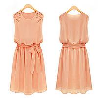 Платье женское Аннет персиковое , летние платья