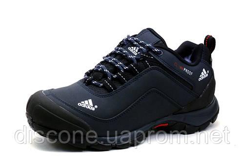 Зимние кроссовки Adidas Climaproof, темно-синие, нубук