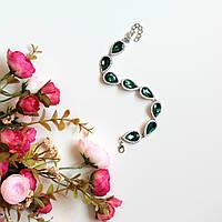 Женский браслет на руку Essia зеленый, магазин бижутерии