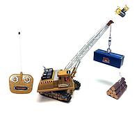 Гусеничный кран R356 на радиоуправлении,+6 функций.Детские игрушки на р/у. Игрушки конструкторы,подъемный кран