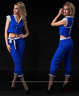 """Стильный молодежный костюм """" Капри и жилетка """" Dress Code"""