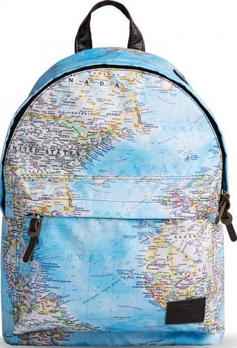 Интересный городской рюкзак 15 л. Fusion Maps, голубой