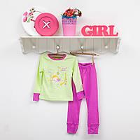 Детская трикотажная пижамка для девочки ТМ Фламинго 255 модель рост 98-104
