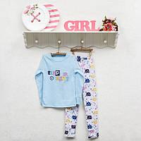 Детская трикотажная пижамка для девочки рост 128, ТМ Фламинго 247 модель