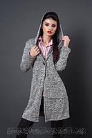 Молодежное пальто-кардиган на пуговице размеры 42-44,46,48-50