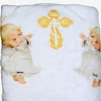 Крыжма крестильная махровая Ангелочки