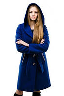 Кашемировое пальто с капюшоном и карманами